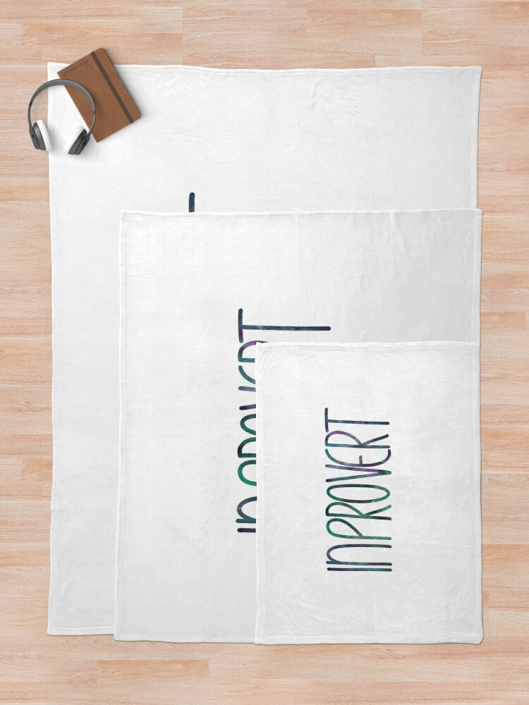 Alternate view of InPROvert - introvert 3 Throw Blanket