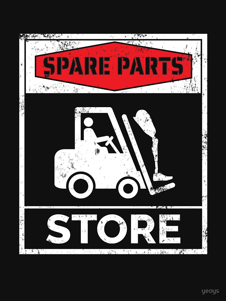 Spare Parts Store - Funny Leg Amputee by yeoys
