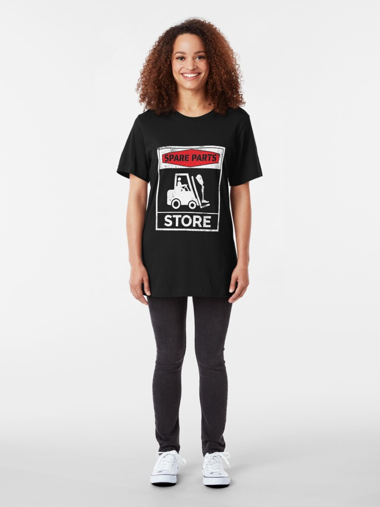 Alternate view of Spare Parts Store - Funny Leg Amputee Slim Fit T-Shirt