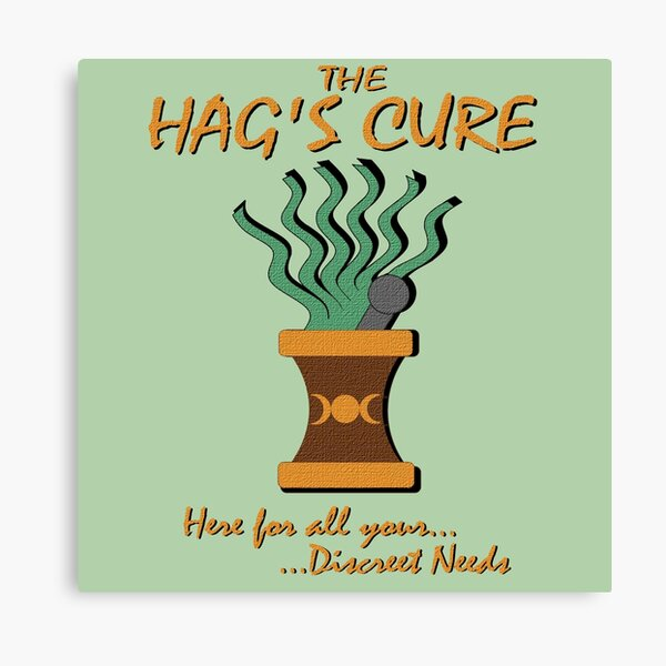 The Hag's Cure Alchemy Shop Canvas Print