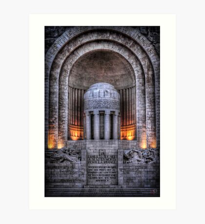 Monument aux Morts Nice Art Print