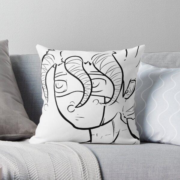 Galza line portrait (b) Throw Pillow
