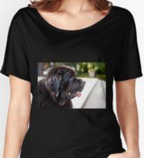 large black Newfoundland dog Women's Relaxed Fit T-Shirt