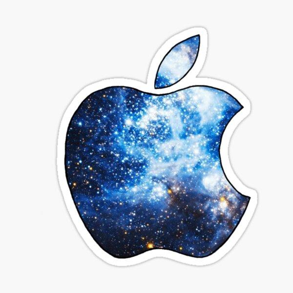 Galaxy Apple logo sticker Glossy Sticker