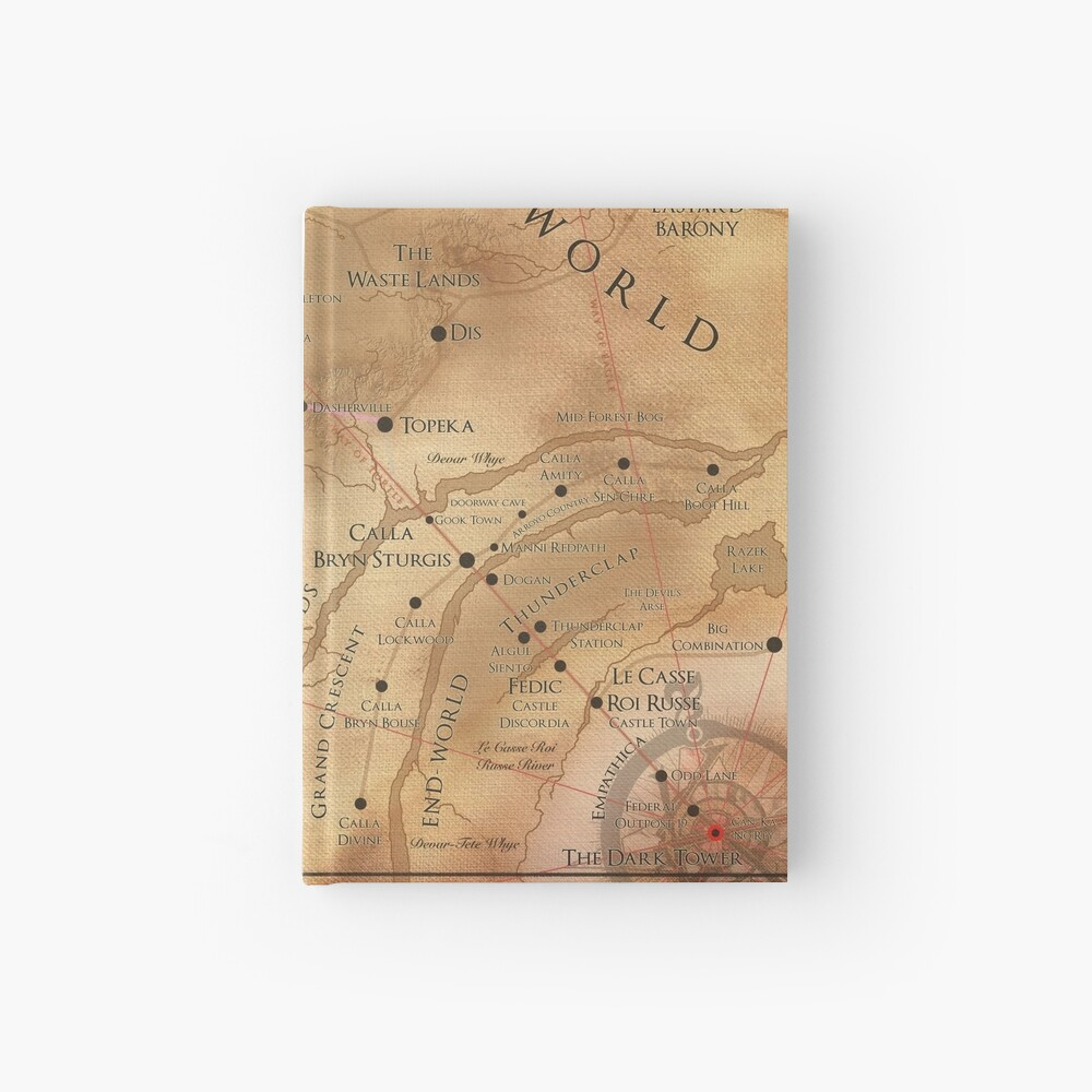 The Dark Tower - Mid-World Map Hardcover Journal
