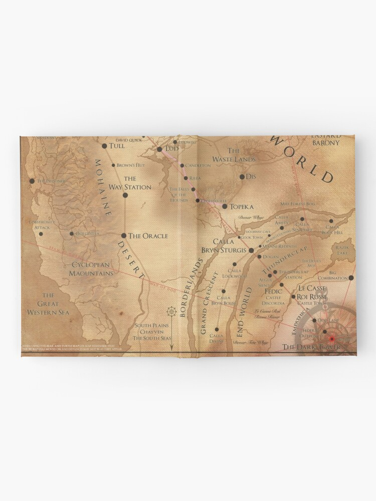 Alternate view of The Dark Tower - Mid-World Map Hardcover Journal