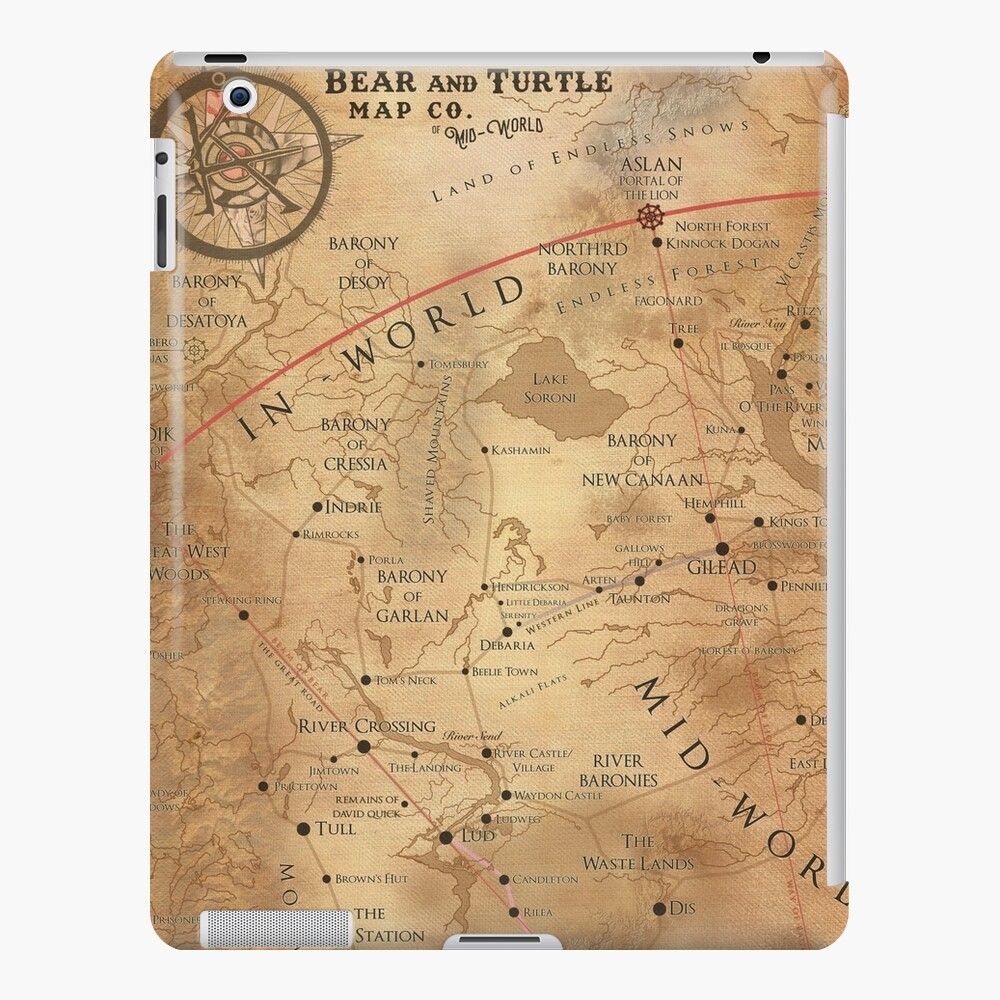 The Dark Tower - Mid-World Map iPad Case & Skin