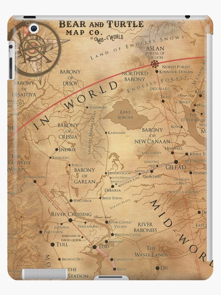 The Dark Tower Mid World Map Ipad Case Skin By Octoberfifteen Redbubble
