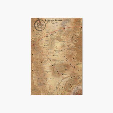 The Dark Tower - Mid-World Map Art Board Print