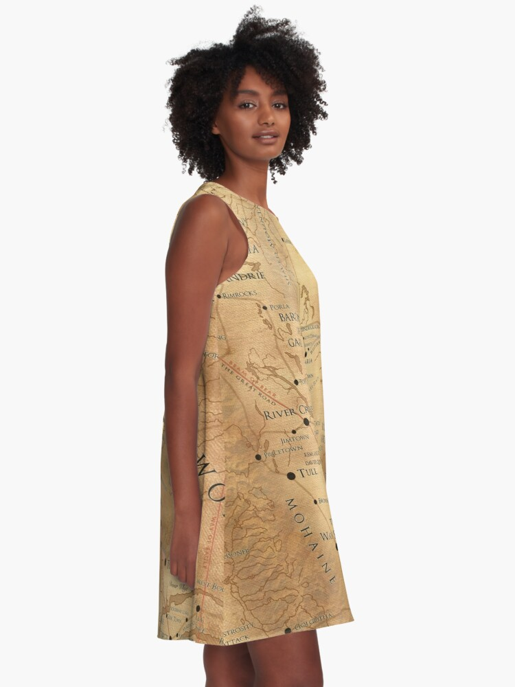 Alternate view of The Dark Tower - Mid-World Map A-Line Dress