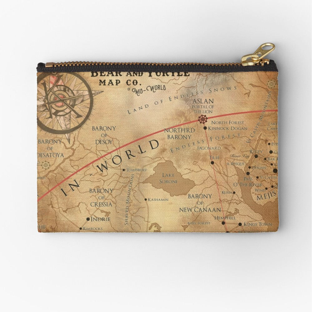 The Dark Tower - Mid-World Map Zipper Pouch
