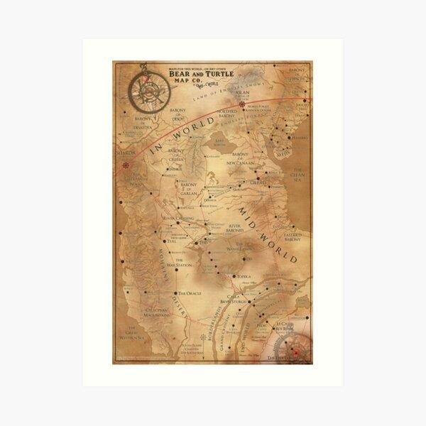 The Dark Tower - Mid-World Map Art Print