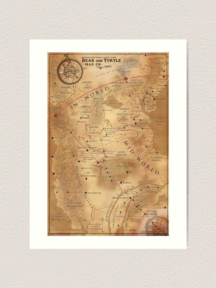 Alternate view of The Dark Tower - Mid-World Map Art Print