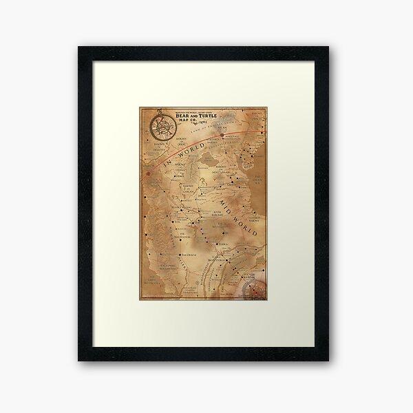 The Dark Tower - Mid-World Map Framed Art Print