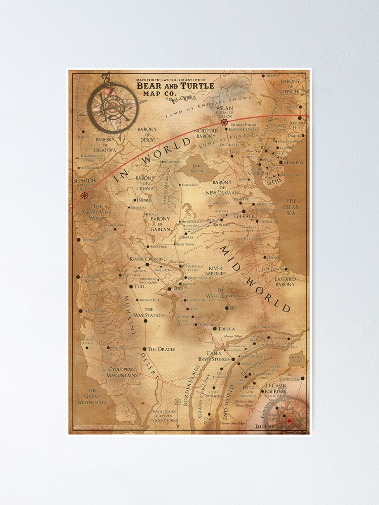 Alternate view of The Dark Tower - Mid-World Map Poster