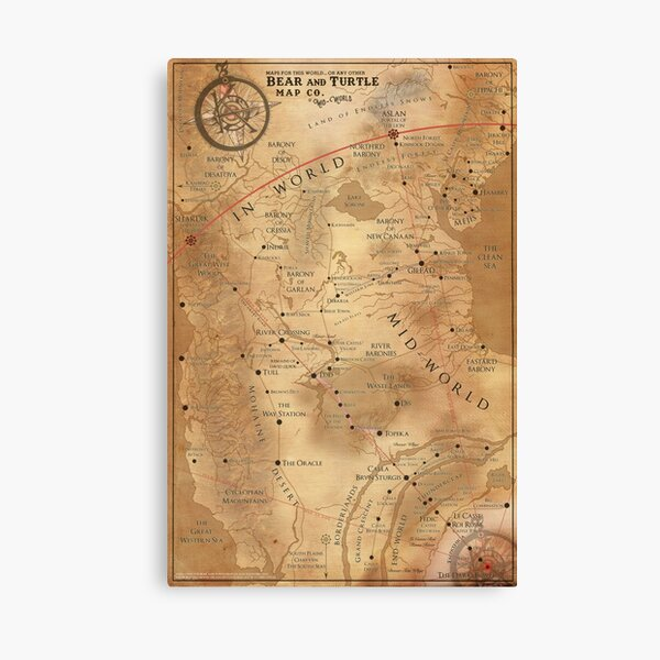 The Dark Tower - Mid-World Map Canvas Print