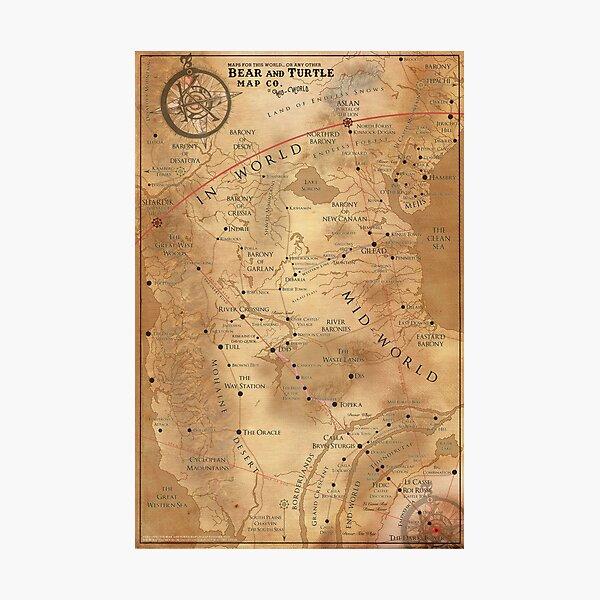 The Dark Tower - Mid-World Map Photographic Print
