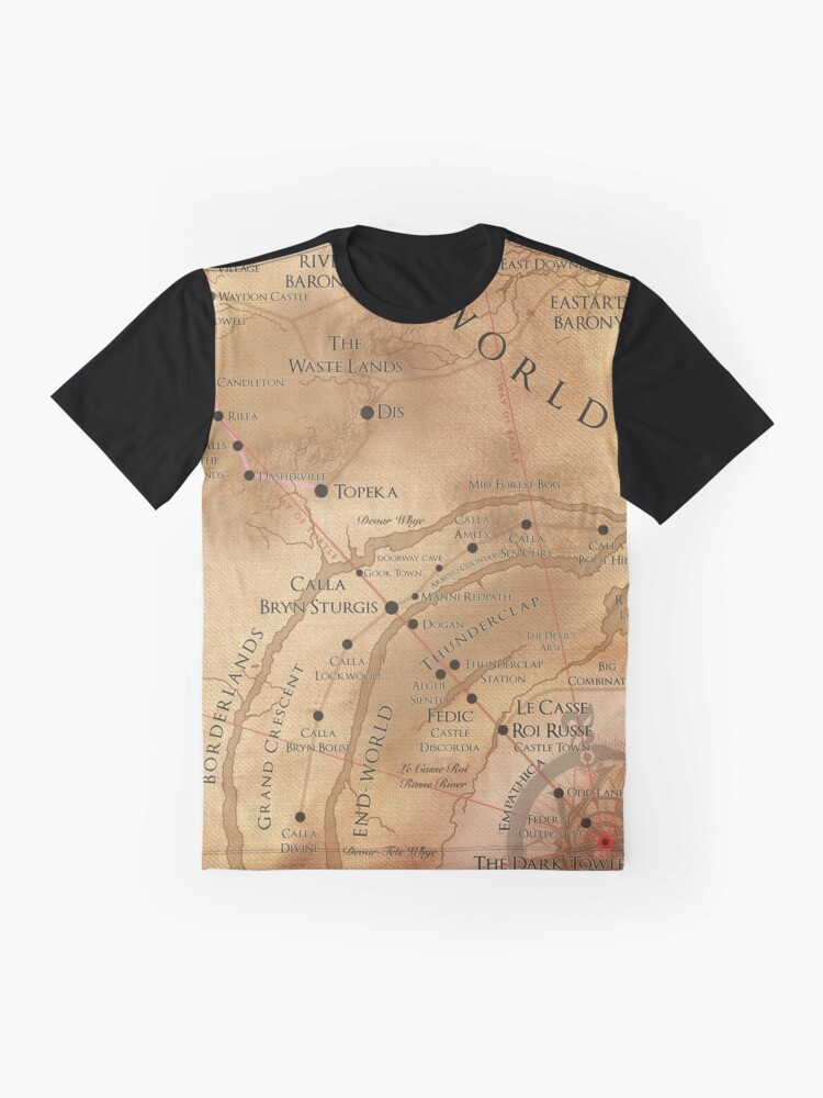 Alternate view of The Dark Tower - Mid-World Map Graphic T-Shirt