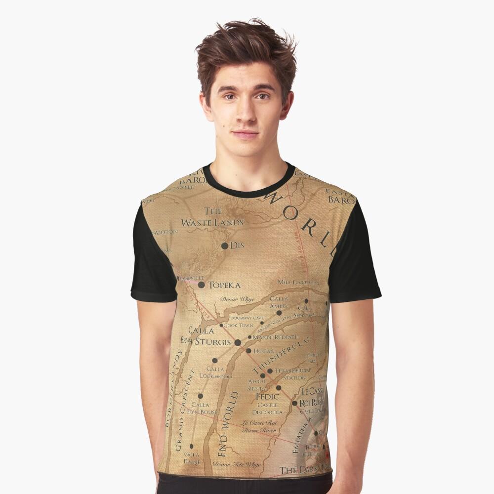The Dark Tower - Mid-World Map Graphic T-Shirt