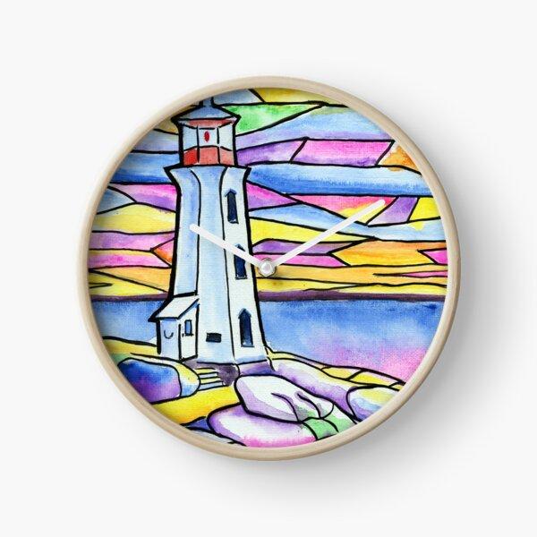 Sacred Light Peggys Cove Lighthouse Clock