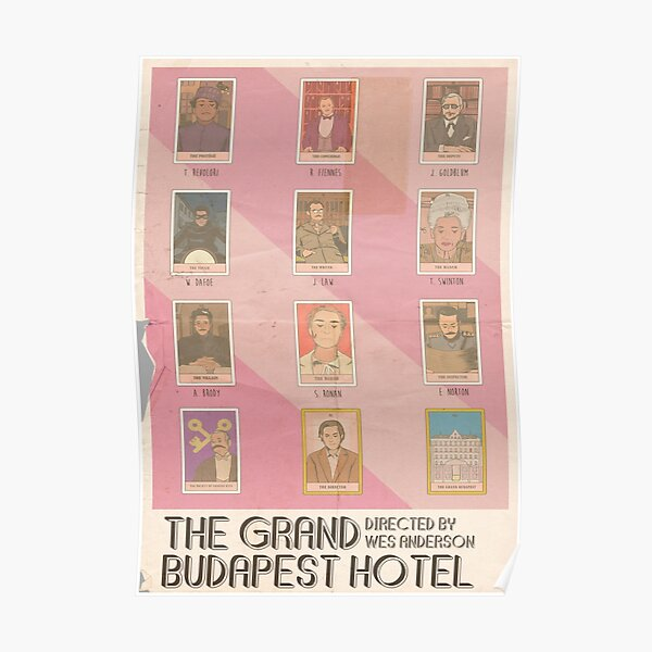 Le Grand Budapest Hotel Tarot Vintage Poster Poster
