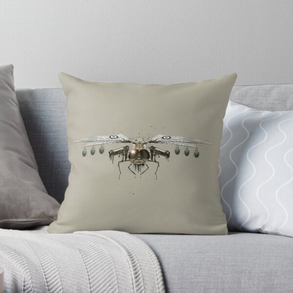 Killer Wings Taupe (PCD1876) Throw Pillow