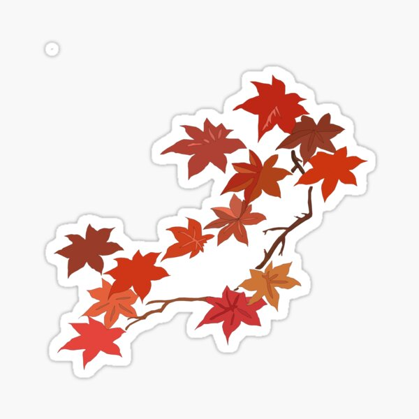Autumn Maple Leaves, Fall Maple Leaves, Maple Leaf Sticker