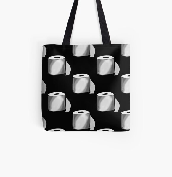 Toilet Roll All Over Print Tote Bag