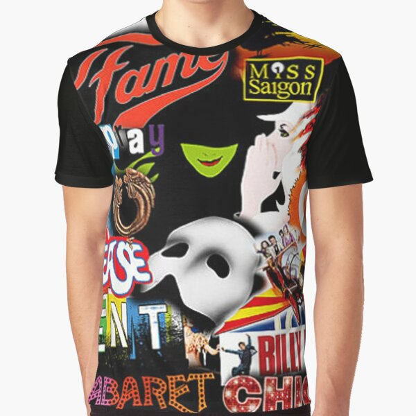 Broadway Musical Collage Graphic T-Shirt