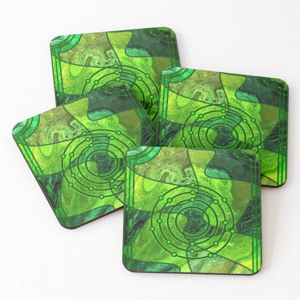Element 17: Chlorine Coasters (Set of 4)