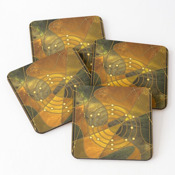 Element 16: Sulfur Coasters (Set of 4)
