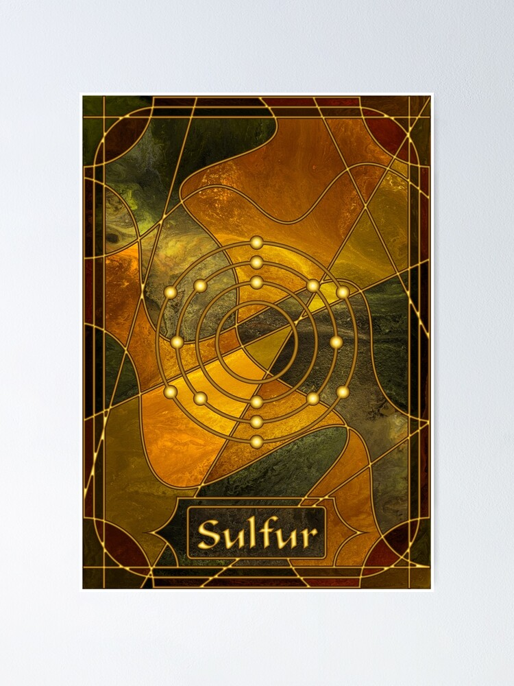 Alternate view of Element 16: Sulfur Poster