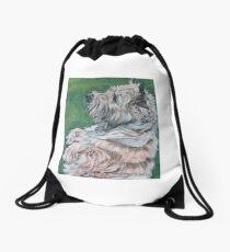 Cairn Terrier Fine Art Painting Drawstring Bag