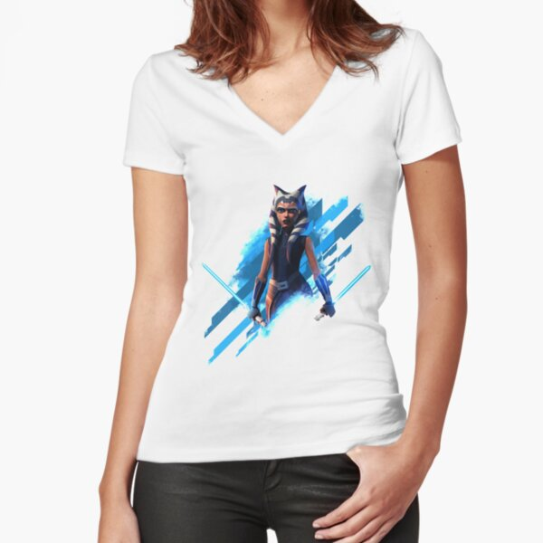 Ahsoka Tano Fitted V-Neck T-Shirt