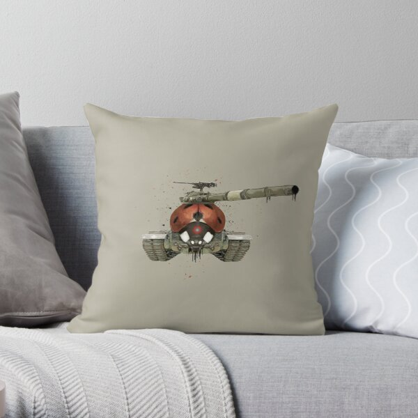 Lady Killer Taupe (PCD1880) Throw Pillow