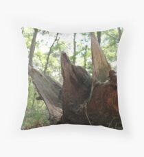 The King Will Wear a Crown of Wood Throw Pillow