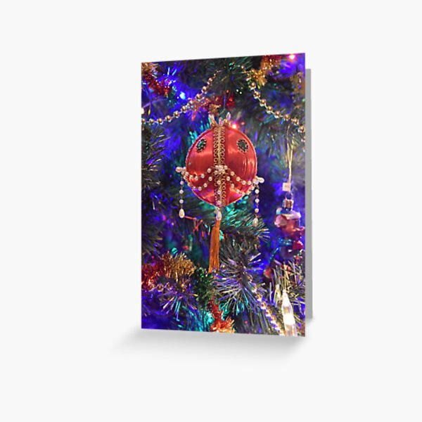 Dad's Red Bead Ornament Greeting Card