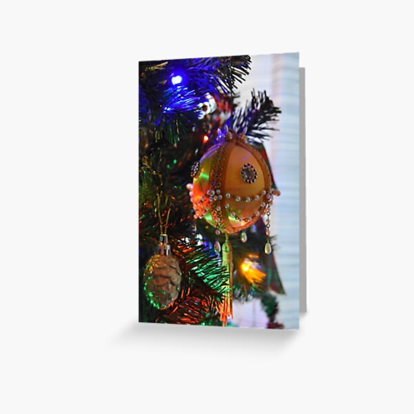 Dad's Yellow Bead Ornament Greeting Card