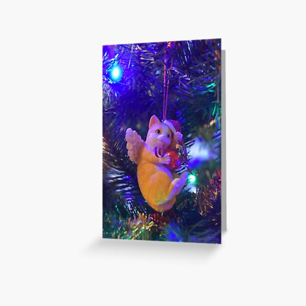 Kathleen's Ornament - Cat Greeting Card
