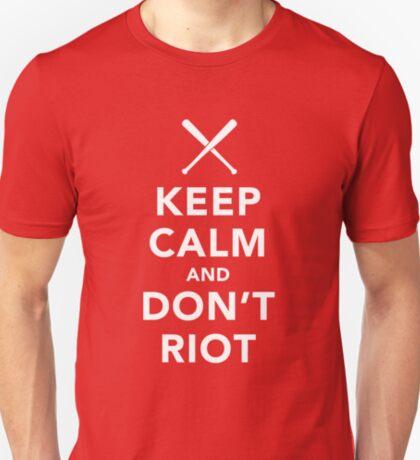 Keep Calm and Don't Riot Dark T-Shirt