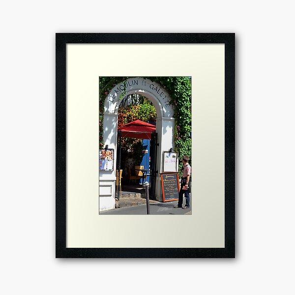 French Cafe in Montmartre  Framed Art Print