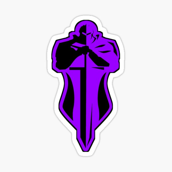 Purple Knight Sticker