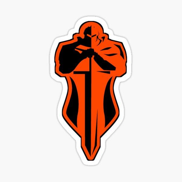 Orange Knight Sticker