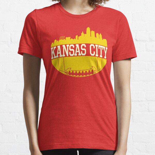 Kansas City Football Skyline KC Fan Red & Yellow Kc Football Essential T-Shirt