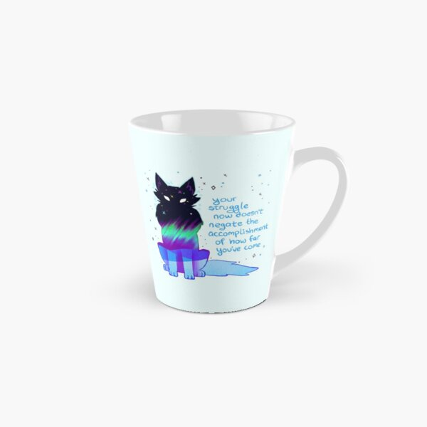 """Your Struggle Doesn't Negate How Far You've Come"" Aurora Wolf Tall Mug"