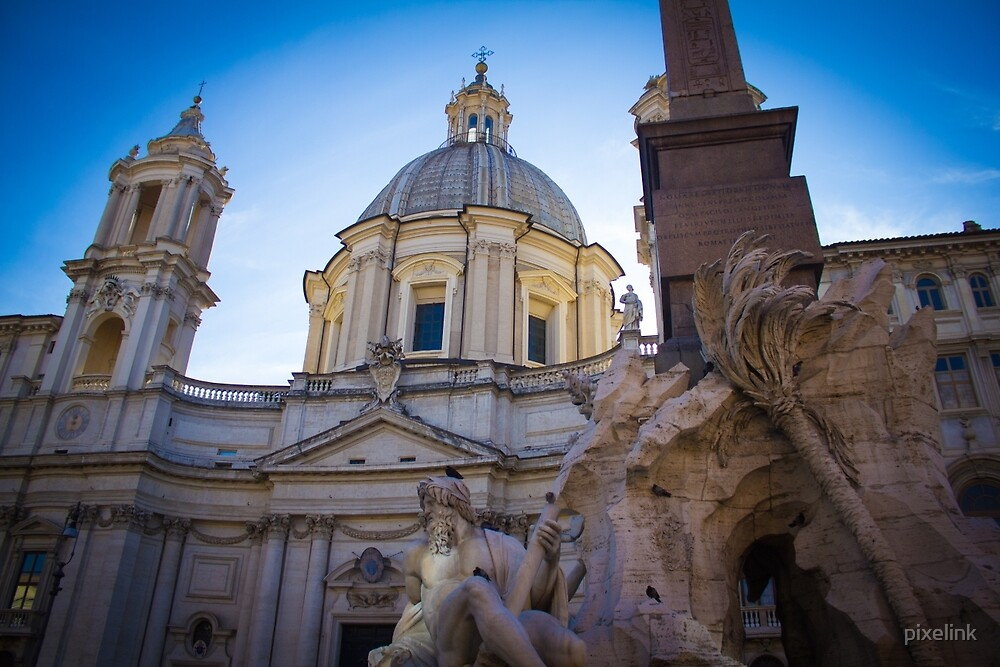 Piazza Navona, Rome by pixelink