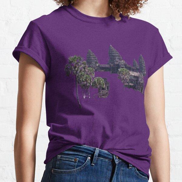Angkor Wat Cambodia drawing Classic T-Shirt