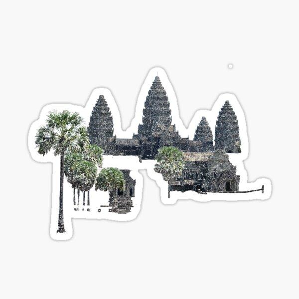 Angkor Wat Cambodia drawing Sticker