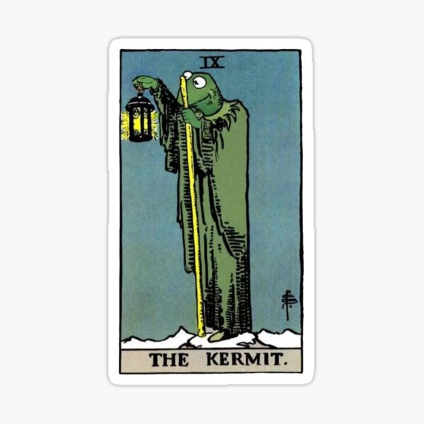 The Kermit Tarot Sticker