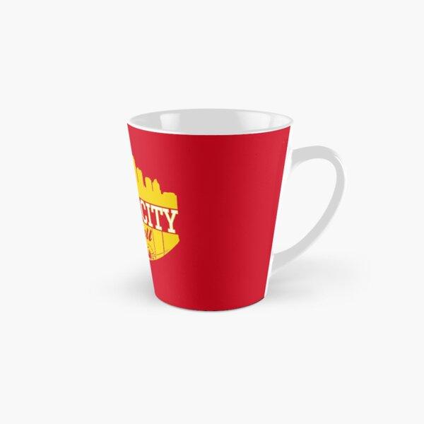 Kansas City Football KC Fan Red & Yellow Kc Football Kingdom Tall Mug